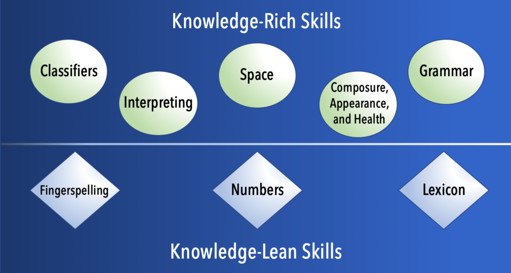 Graphic of skills categories
